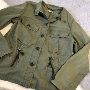 Gap utility military olive green blazer jacket szL